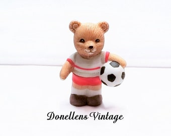 Homco Soccer Sports Bear Collectible Figurine # 1408 presented by Donellensvintage