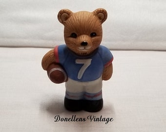 Homco Football Sports Bear Collectible Figurine # 1408 presented by Donellensvintage