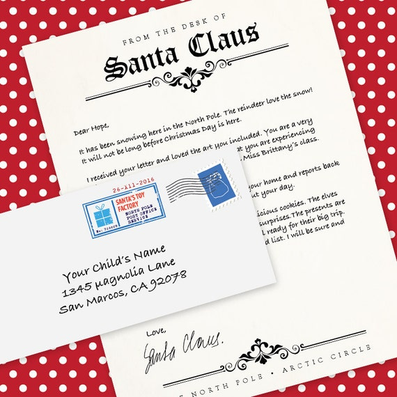 picture regarding Letter From Santa Template Printable titled Letter in opposition to Santa Claus MS Phrase Template, Letterhead Printable Envelope  Printable Do-it-yourself Immediate Obtain MS Term