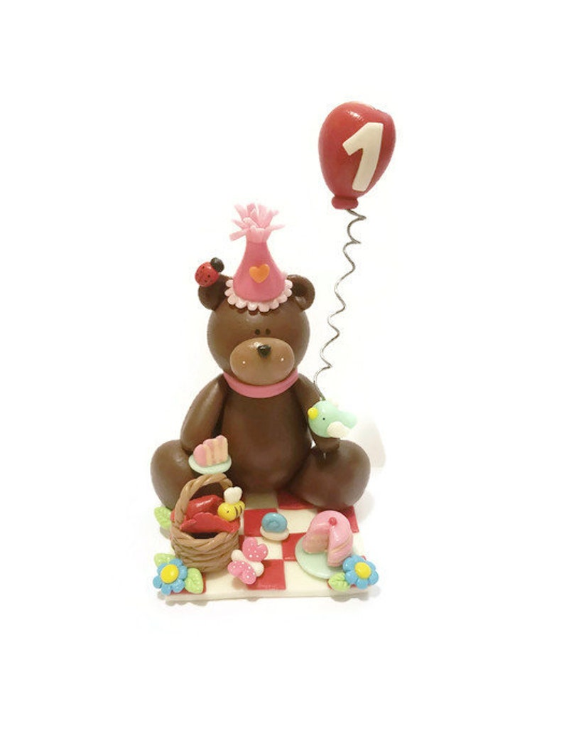 Teddy Bear Picnic Party Picnic Cake Topper Teddy bear image 0