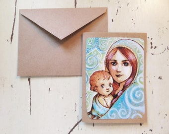 Greeting Card Set of 5 ALL Quantities AVAILABLE Acrylic Painting Disney Frozen Elsa Anna Including Envelopes Artwork Print Blank Inside