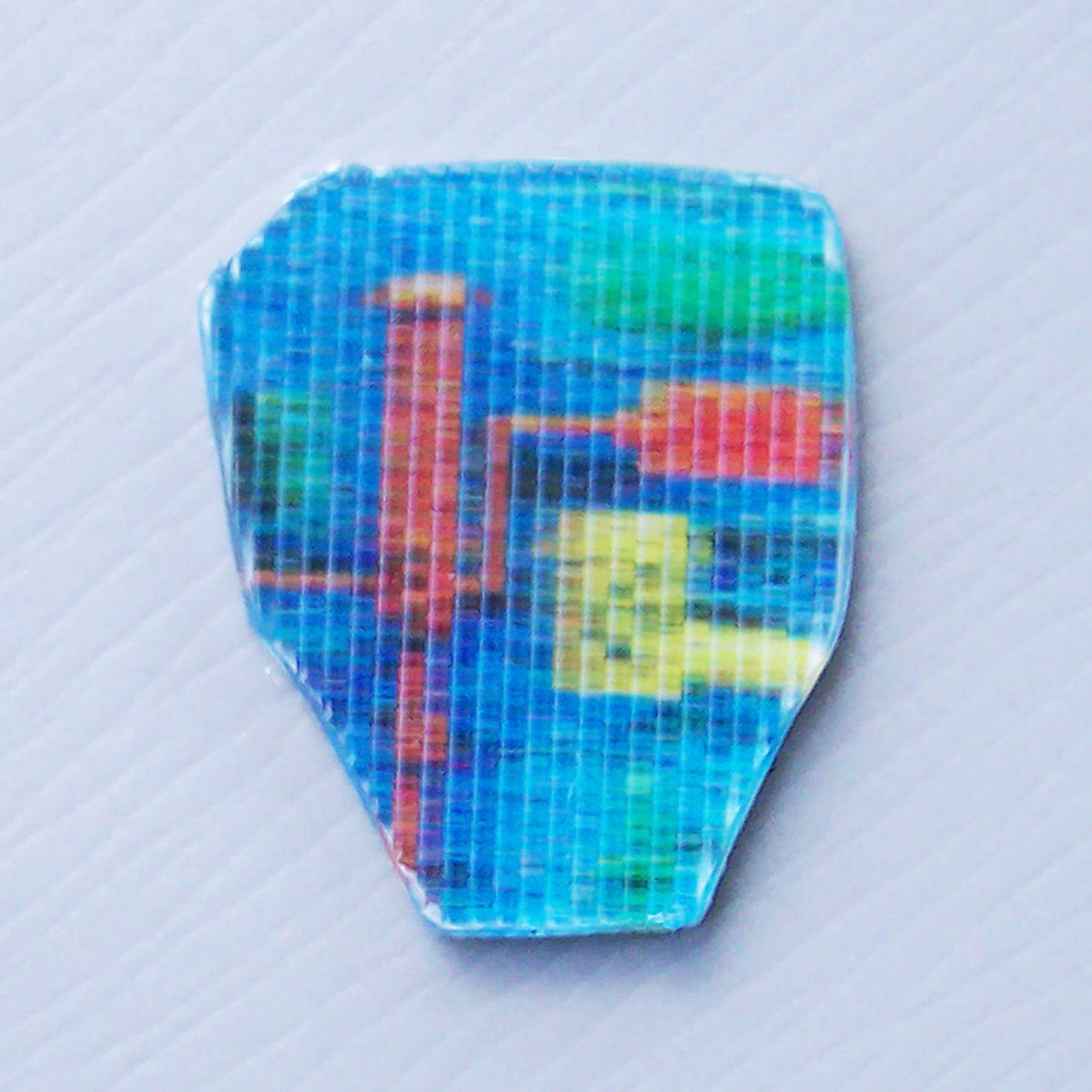 Vintage gi joe replacement b a t lenticular chest sticker