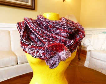 "Red/Pink ""Love""  Infinity Scarf"