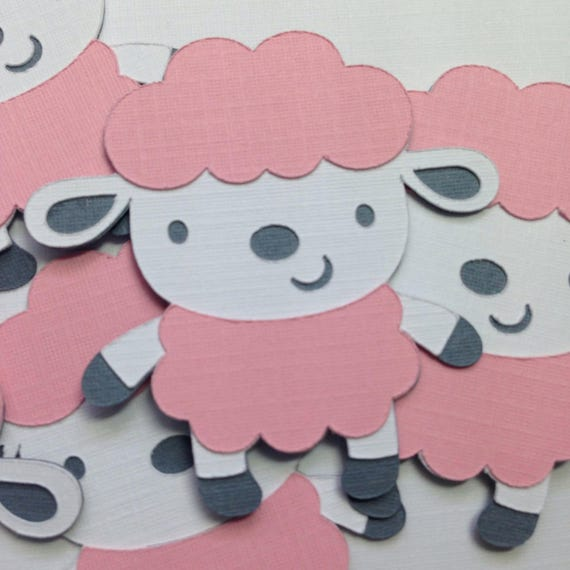 Baby Shower Decorations Pink Lamb Party Decor Sheep Baby Shower Farm Animal Party Baby Shower Ideas First Birthday Ideas Party Supply