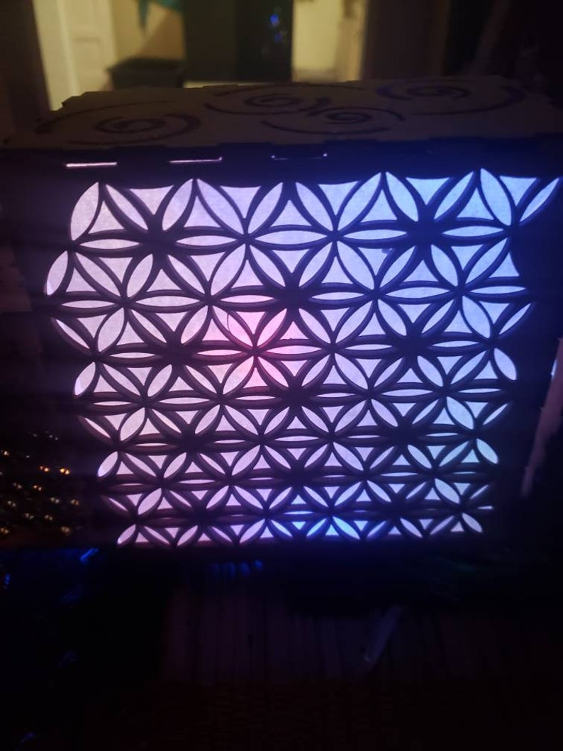Beautiful Laser  Cut multicolored light up lightbox  lantern multiple size And design vary