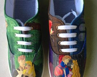 6d8d5e66143e2 Teachers painted canvas shoes | Etsy