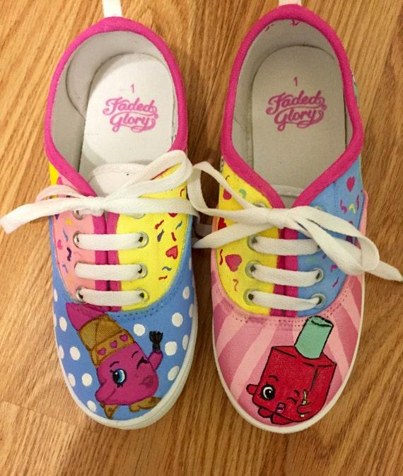 5bb4777312998 Shopkins painted canvas shoes