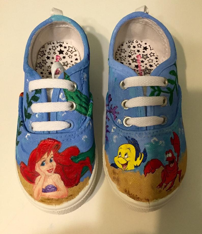 1244ab3e764e8d Little Mermaid painted canvas shoes