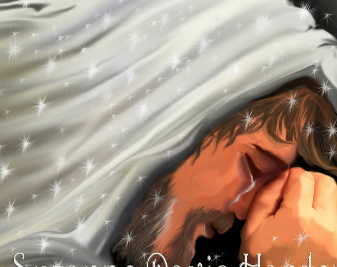 Featured listing image: Giclee Fine Art Print ~ Jesus Weeps and Prays For His Lost Sheep by Suzanne Davis Harden