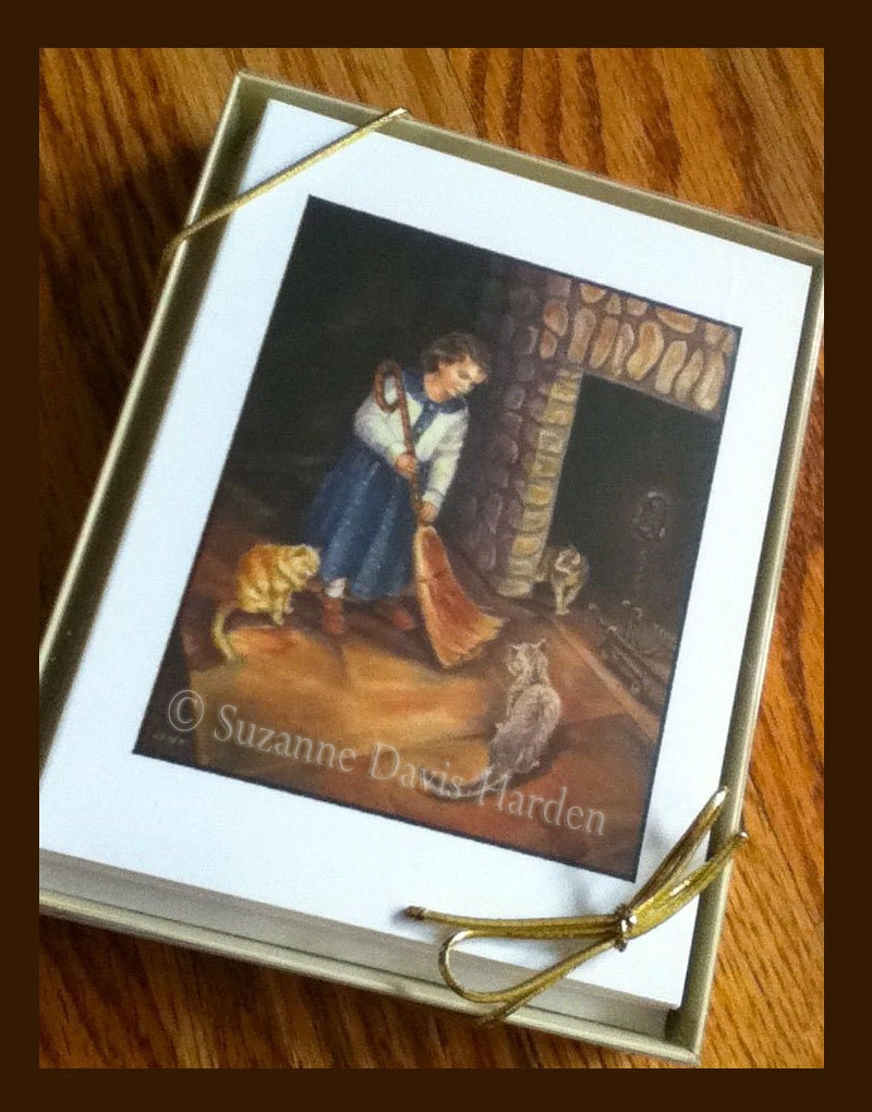 Childrens Greeting Cards Original Timeless Paintings Of Children