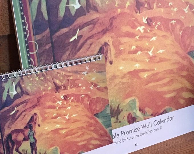 Featured listing image: The 2021 Bible Promise Wall Calendar Designed & Illustrated by Suzanne Davis Harden