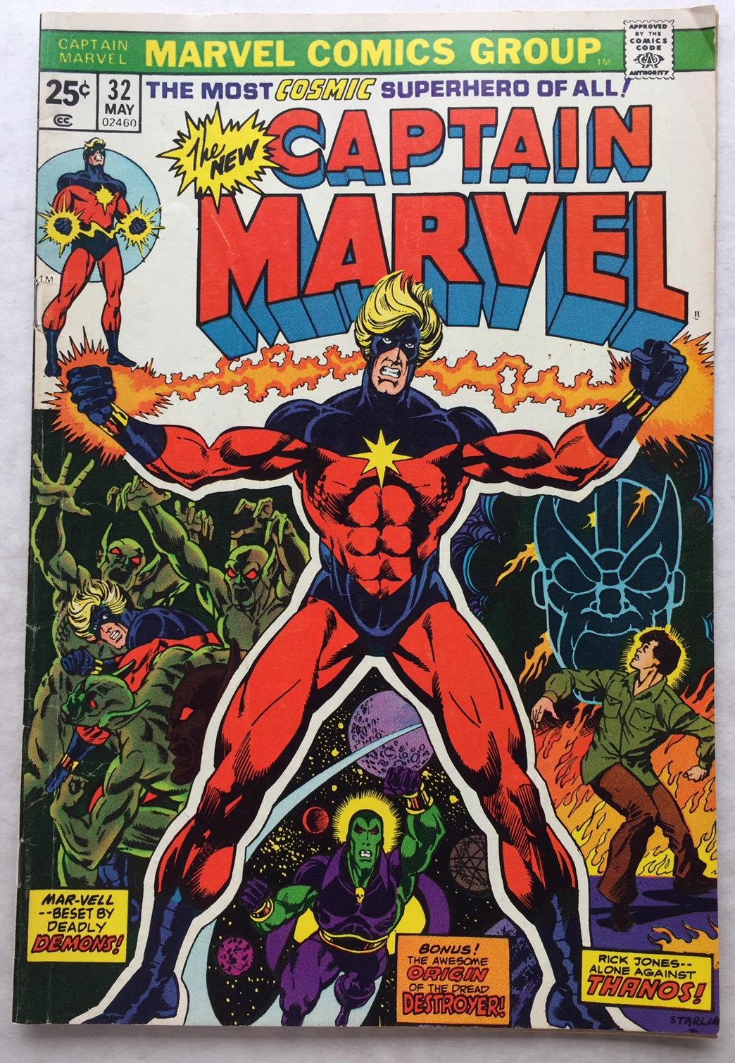 20 CAPTAIN MARVEL 20 comic book Drax the Destroyer Moondragon origins  Thanos Jim Starlin
