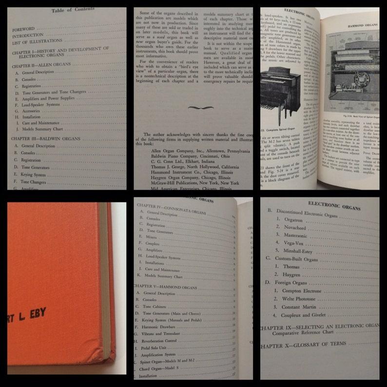 ELECTRONIC ORGANS - 1953 BOOK - Keyboards Hammond Wurlitzer Baldwin  Connsonata