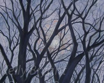 Full Moon, Giclee print of original pastel painting