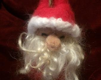 Made to Order Needle felt Santa Christmas Ornament