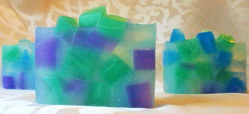 Sea Glass Artisan Soap Blue Turquoise Natural Paraben image 0