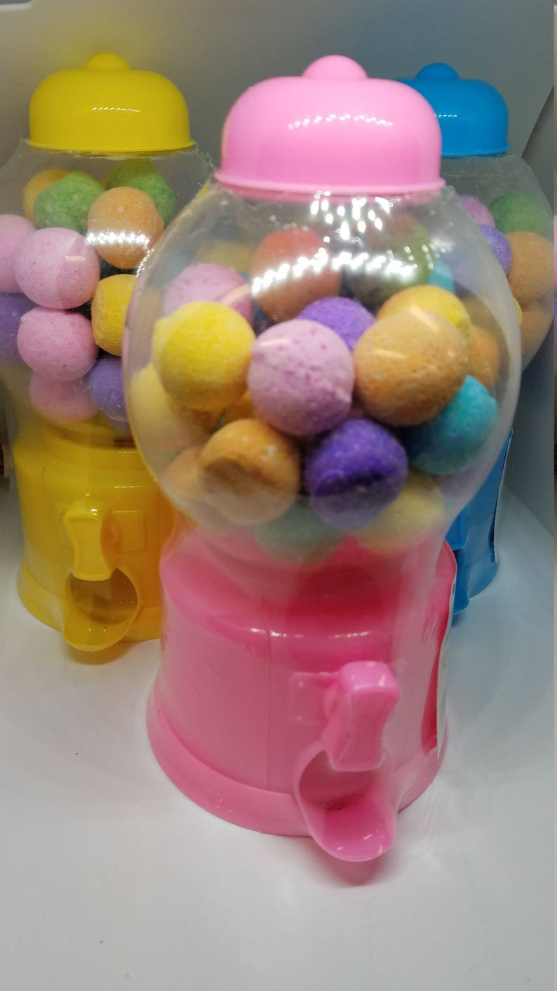 Gum Ball Bath Bombs Bubble Gum Scent Bath Fizzy Childrens image 0