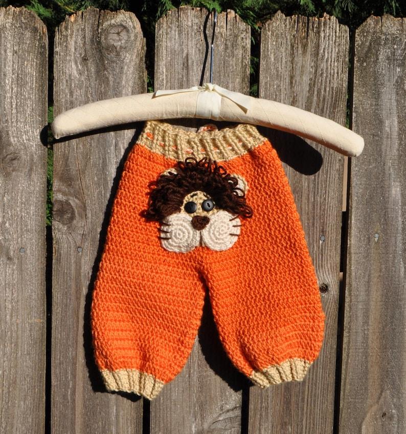 CUTE LION PANTS 0-3 Months Super Popular Baby BoyGirl Fun Baby Shower Gift Cute Photo Prop Warm Comfortable Acrylic Yarn Knit or Crochet