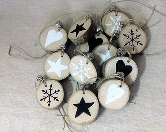 Wooden hanging Christmas decoration