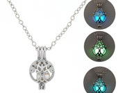 1PC Amazing Glow In The Dark Necklace Life Tree Necklace Luminous necklace Cube Pendant Glowing Jewelry Glowing Pendant