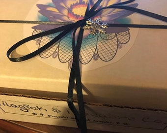 Witch Mystery Box: Handmade goodies & magickal tools curated for you!   Best Seller since 2017   Pagan Mystery Box   Goth Box   Altar Supply