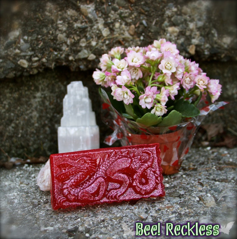 Dragon's Blood Soap Bar (Hemp Oil): Protection & Sexuality  | Goth | Dragon  | Game of Thrones | Witch | Witchcraft | Vegan Soap | Magick |