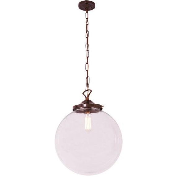 Riad 35cm Clear Globe Pendant Light Etsy