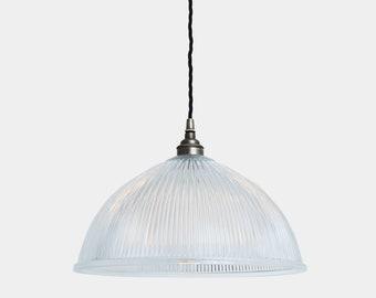 Nova Prismatic Glass Dome Pendant Light 30cm