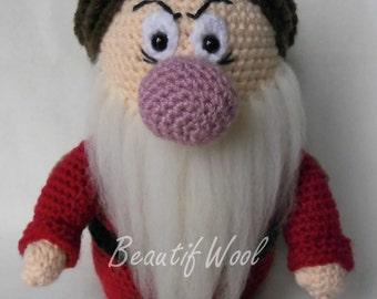 Crochet Grumpy - Seven Dwarfes - Handmade grumpy