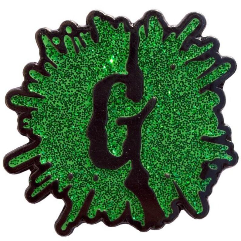 Goosebumps G Splat Glitter Enamel Pin image 0