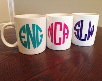 Monogram Mug -MORE COLORS AVAILABLE