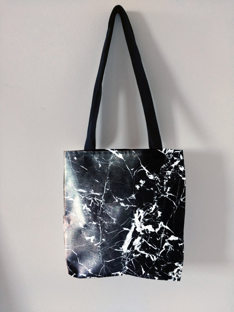 2b08748b0 Black marble tote bag canvas tote trendy tote fashion marble | Etsy