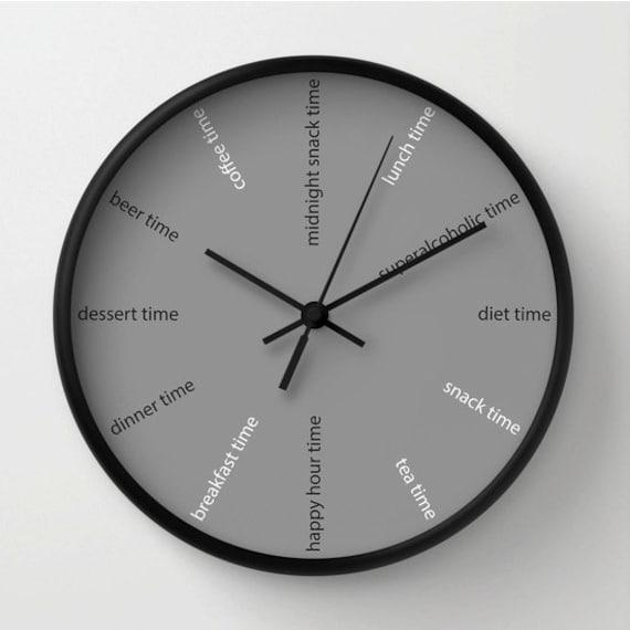 Orologio da cucina, orologio divertente, orologio moderno, orologio dieta,  decoro bar, orologio ristoranti