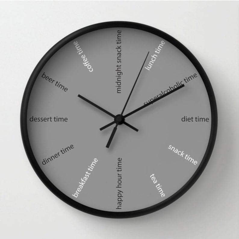 Orologio da cucina orologio divertente orologio moderno | Etsy