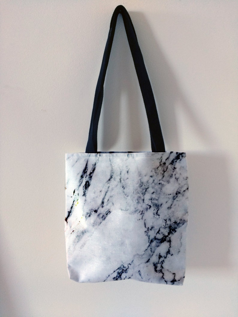 102cf0271 White marble tote bag canvas tote trendy tote fashion marble | Etsy