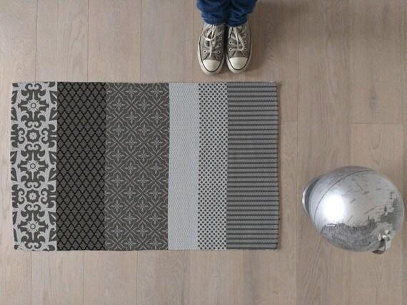 Tappeto moderno multicolor design unico per soggiorno camera etsy