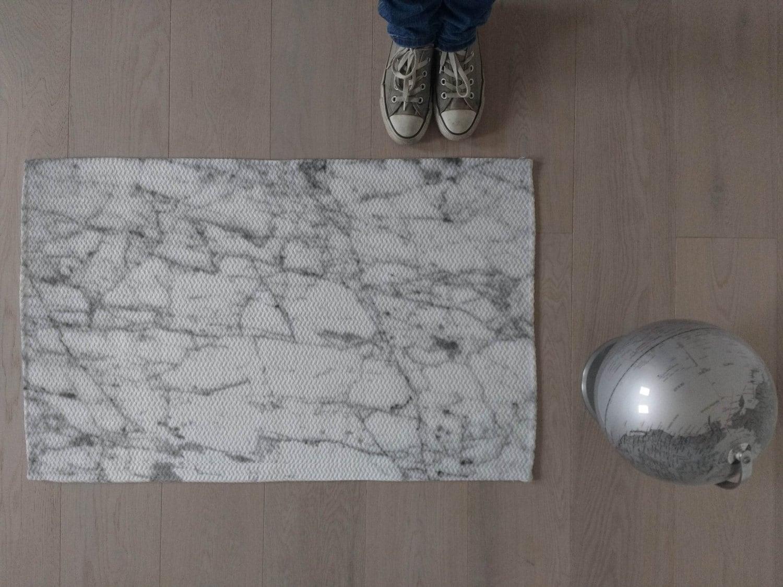 Tappeto effetto marmo arredo contemporaneo marmo bianco e etsy
