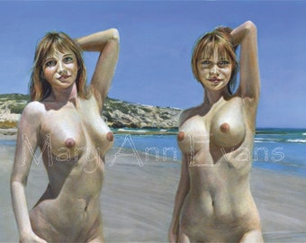 Beach nude mature Old Women