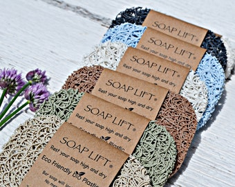 Soap Lifts® Soap Holder   Ecofriendly & Natural   *Your Choice of Colors!*  No-Mess Longer-Lasting Bar Soap Saver  BPA-Free Sustainable Bath