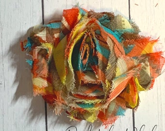 Wholesale Shabby Chiffon Flowers Shabby Flowers SIX Carrot Rainbow Flower Craft Supplies Great for DIY Headbands Craft Flowers