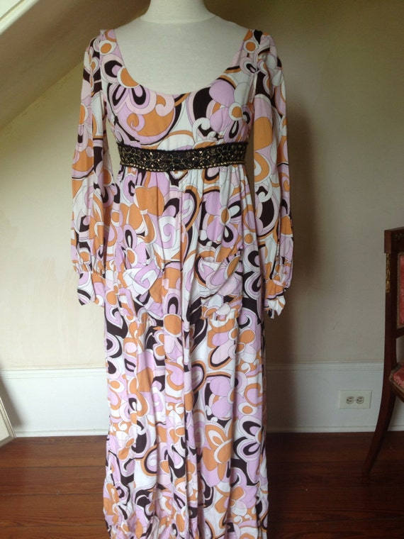 1970's Gypsy Dress Long w/ Long Sleeves