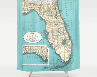 Florida State Map Shower Curtain