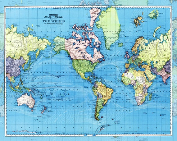 World Map With Currents.World Map Fleece Blanket Throw Ocean Currents Etsy