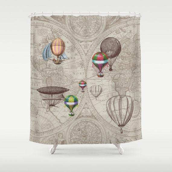 Superieur Hot Air Balloon Style Shower Curtain Balloon | Etsy