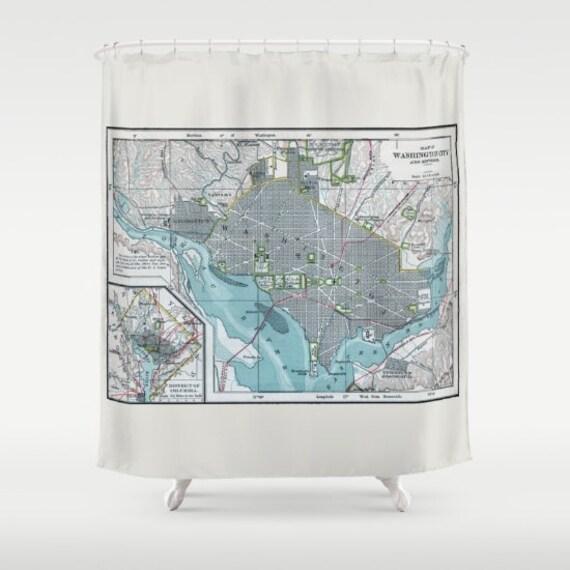 Washington DC Vintage Map Shower Curtain Street Of The