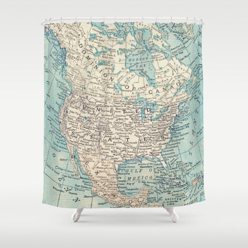 Map Shower Curtain - North America bold- Home Decor - Bathroom - learning on united states map high resolution, united states map tumbler, united states map pillow, united states map large wall, united states map quilt, united states map fabric, united states map rug, united states map clock, united states military armed forces, united states map art, united states map placemat, united states map food, united states map comforter, united states map with rivers, united states map wallpaper, united states map with landmarks, united states map wall mural, united states map zoom in, united states map rhode island, united states map decor,