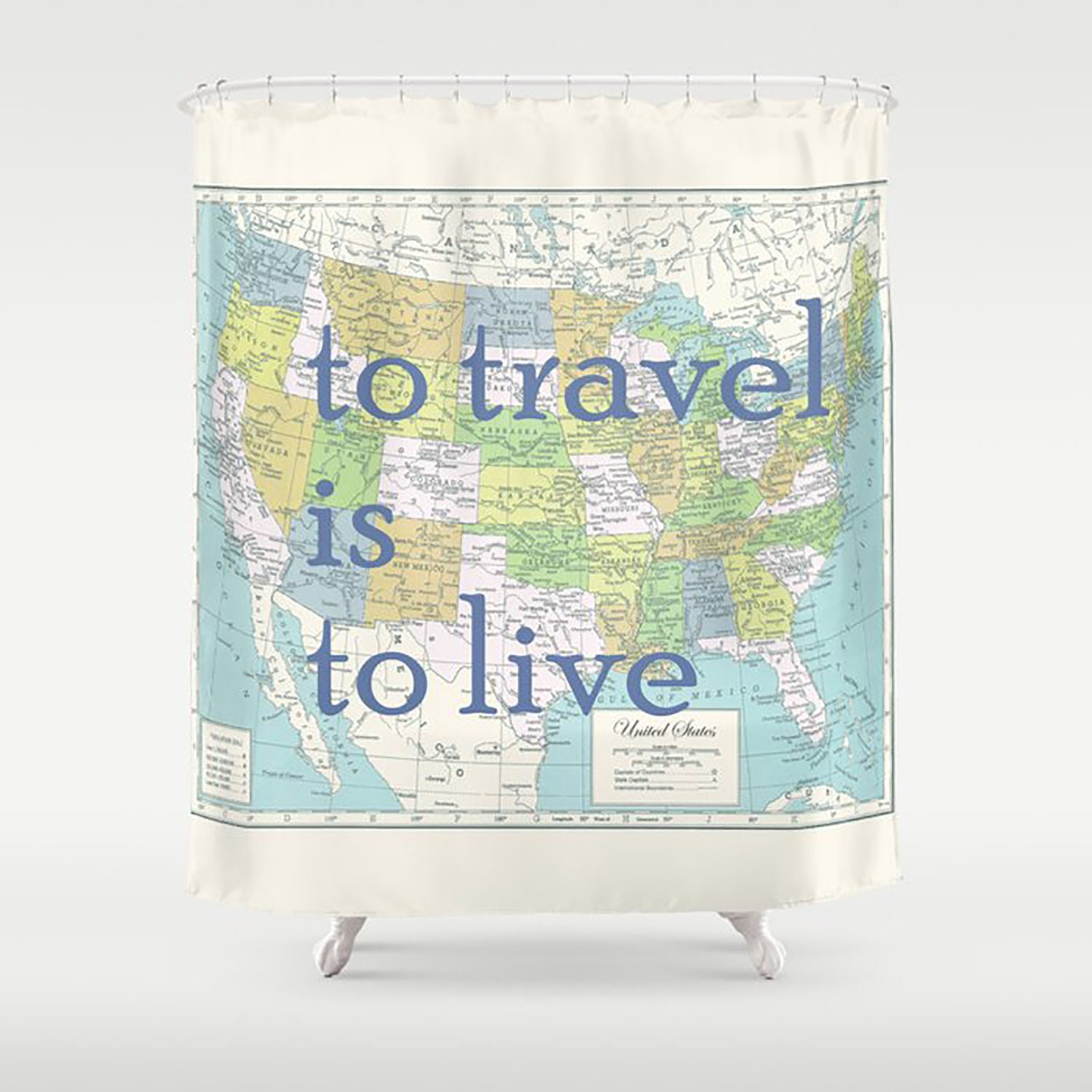 Map Of The United States Shower Curtain To Travel Is Live