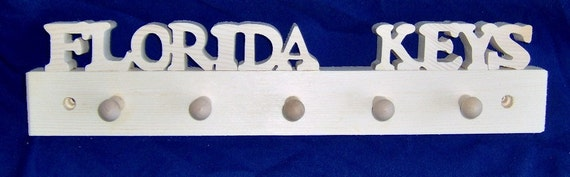 Florida Keys Handcrafted Wooden Key Rack