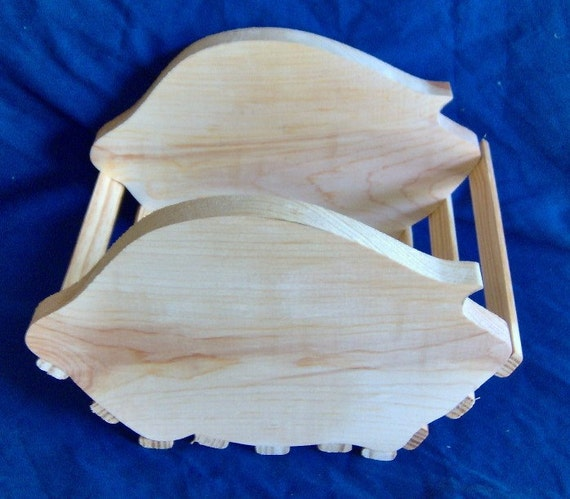 Wooden Pig Basket / Planter. Free Shipping!