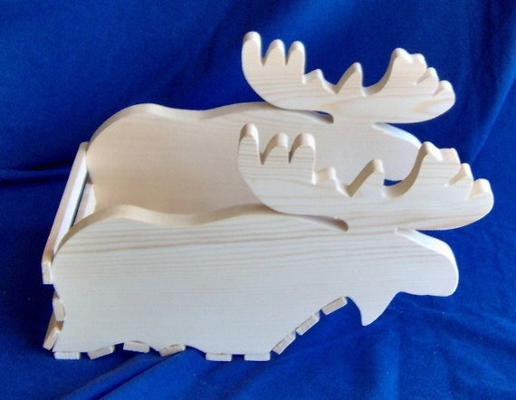 Wooden Moose Basket / Planter
